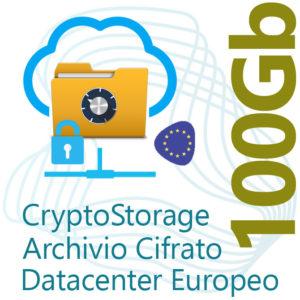 CryptoStorage 100Gb su Datacenter Europeo