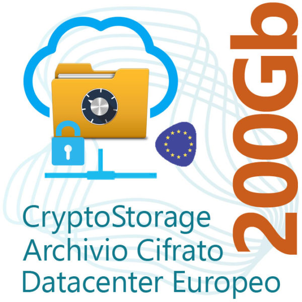 CryptoStorage 200Gb su Datacenter Europeo