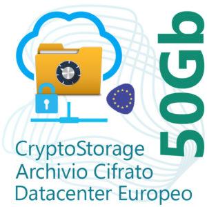 CryptoStorage 50Gb su Datacenter Europeo