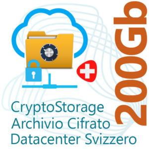 CryptoStorage 200Gb su Datacenter Svizzero