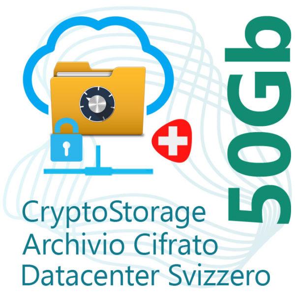 CryptoStorage 50Gb su Datacenter Svizzero