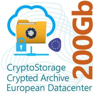 CryptoStorage 200Gb Encrypted Archive on European Datacenter