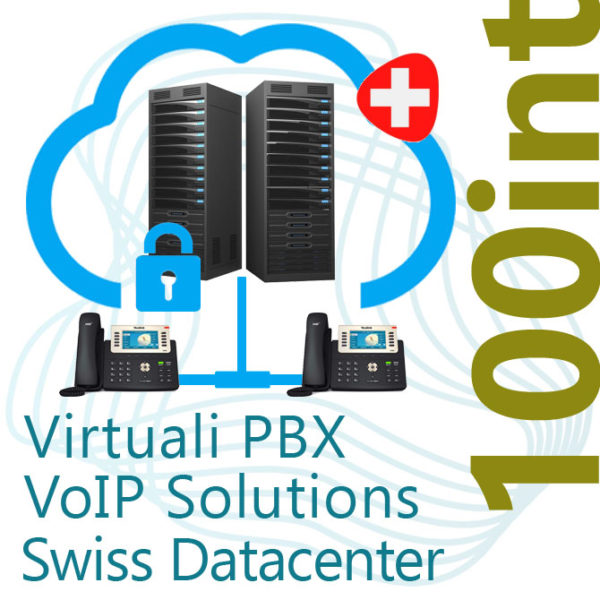 Virtual PBX VoIP in Cloud up to 100 Internal on Swiss Datacenter