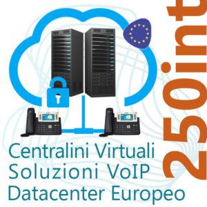 Centralino VoIP in Cloud fino 250 Interni - DC Europe