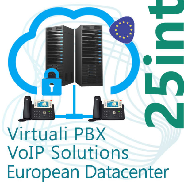Virtual PBX VoIP in Cloud up to 25 Internal - DC Europe