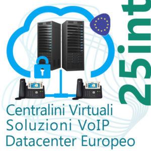 Centralino VoIP in Cloud fino 25 Interni - DC Europe