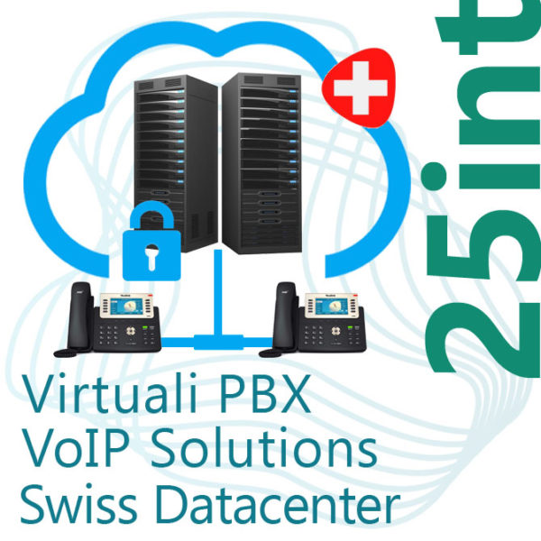 Virtual PBX VoIP in Cloud up to 25 Internal on Swiss Datacenter