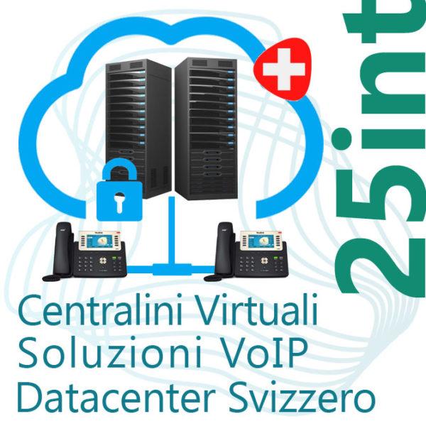 Centralino VoIP in Cloud fino 25 Interni - DC Svizzero