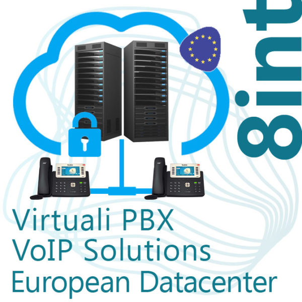 Virtual PBX VoIP in Cloud up to 8 Internal - DC Europe