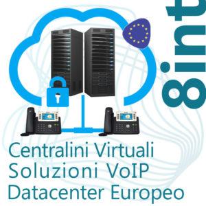 Centralino VoIP in Cloud fino 8 Interni - DC Europe