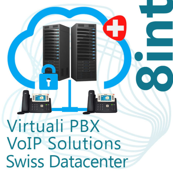 Virtual PBX VoIP in Cloud up to 8 Internal - Swiss DC