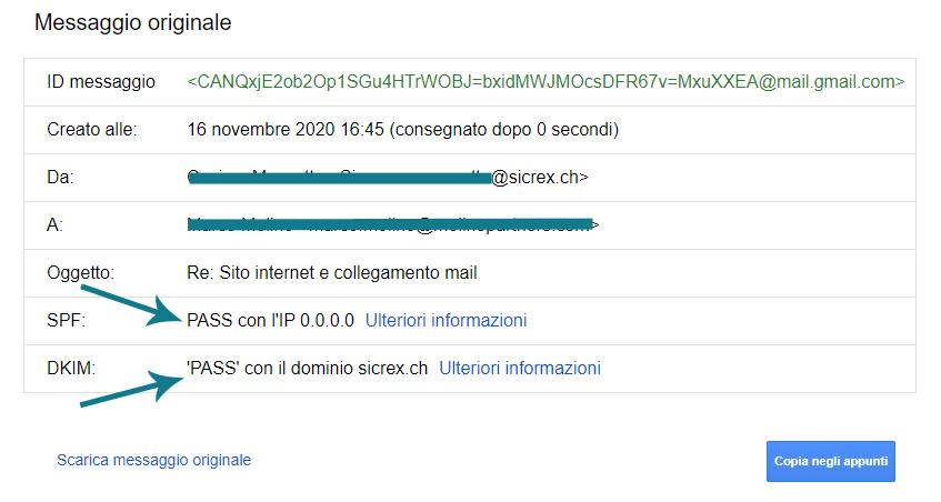 Perchè le mie mail inviate vanno in spam? Come evitarlo? Come verificare se google ha rilevato correttamente i nostri settaggi antispam?