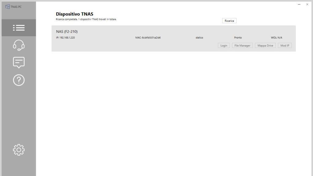 Applicativo TNAS-PC di Configurazione TerraMaster